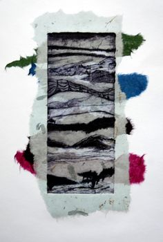 collagraph with chine colle