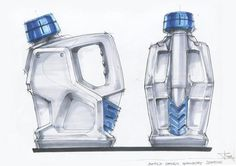 Bottle Design idea sketch 2010 by Ryu Sihyeong Id Design, Sketch Design, Sketch Inspiration, Design Inspiration, Id Digital, Pattern Texture, Isometric Drawing, Logos Retro, Industrial Design Sketch