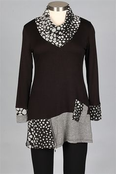 """I love the crispness combined with originality in this piece. It's """"artful"""" !! And who can resist polka-dots??"""