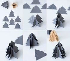 Instructions: DIY paper Christmas trees Source by janabirkeHow to make DIY paper tree? How do I make DIY paper tree?How to make DIY paper tree? Do you enjoy doing different things or making things that attracts you by yourself. Diy Paper Christmas Tree, Wooden Christmas Decorations, Noel Christmas, Xmas Tree, Origami Christmas, 3d Tree, Tree Decorations, Papier Diy, Navidad Diy