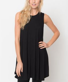 Look at this Caralase Black Sleeveless Tunic on #zulily today!