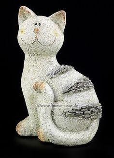 Katze deko kerri keramik garten wetterfest handarbeit - Keramik katzen fur garten ...