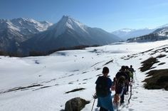 Snowshoesing in west alps. Come to visit Italy with www.trekking-alps.com