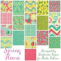 TheRibbonRetreat.com:  Spring House - Designed by Stephanie Ryan for Moda Fabrics