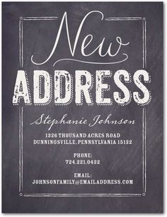 New Slate - Moving Announcement Postcards - Sarah Hawkins Designs - Light Gray - Gray : Front