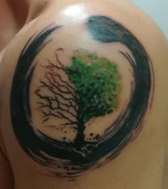 The tree of the life with its beautiful and ugly parts #tattoo #tree #life #enso #japan #spring #winter
