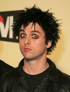 Billie Joe Armstrong - Green Day can you tell I have a thing for guys with black hair blue eyes and eyeliner?
