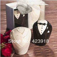 Souvenir Pernikahan Elegan Bird Shape Salt Pepper Pcssetsbridegroom Ceramic Salt Pepper Shaker Wedding Favors And Gifts Souvenirs For Guest In Party Favors