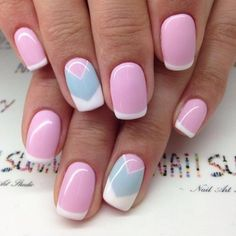 Nail art Christmas - the festive spirit on the nails. Over 70 creative ideas and tutorials - My Nails Cute Pink Nails, Pretty Nails, Fun Nails, Pastel Nails, Bright Nails, White Nails, Pink Nail Designs, Best Nail Art Designs, Nails Design