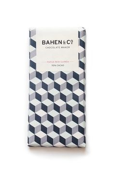 Bahen & Co. - West Australian boutique chocolate maker. Producing stone ground chocolate from bean to bar.  A traditional approach to chocolate making that returns to a slower pace of a previous time.  This is their Papua New Guinea 70% Cacao bar.