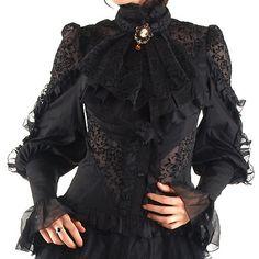 Victorian black shirt                                                                                                                                                     Mais