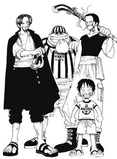 Shanks Beckman Roo Luffy