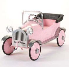 pink princess pedal car  airflow collectibles