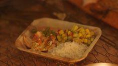 Gegrilde zalm met rijstsalade en paprikadip | Dagelijkse kost