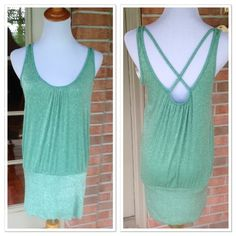 H&M BRAND NEW TUNIC ️SIZE SMALL- BEAUTIFUL TUNIC BY H&M!!! SPARKLING SEAFOAM GREEN- New without tags H&M Tops Tunics