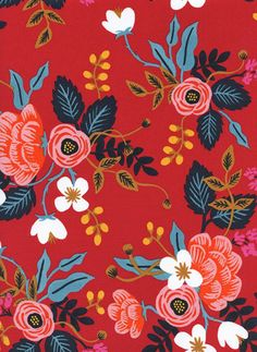 Lady McElroy Floral Paradise 4 Way Stretch Samba Crepe Suiting Dress Fabric ...