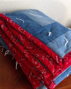 Handcrafted Country Bandana Quilt Full by NanaTinasCreations