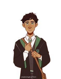 Albus Severus Potter by Cherryandsisters Harry Potter Artwork, Harry Potter Drawings, Harry Potter Fan Art, Harry Potter Universal, Harry Potter World, James Potter, Slytherin, Hogwarts, Harry Y Ginny