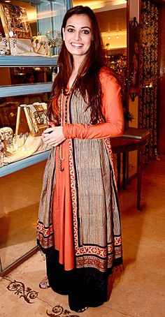 Dia Mirza at the launch of launch of new jewellery line by Raveena Tandon. #Bollywood #Fashion #Style #Beauty