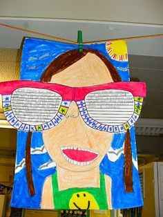 Tales of a Tenacious Teacher: Back to School or End of Year Project Back To School Art, Beginning Of The School Year, Last Day Of School, New School Year, School Fun, Art School, School Ideas, School Stuff, Back To School Activities