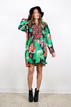 Vintage M L XL Bright Ethnic Embroidered by ShopTwitchVintage, $39.99