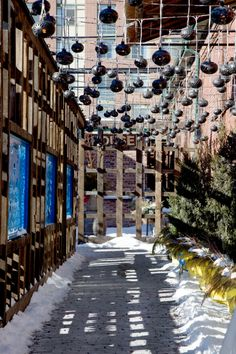 The Alleyway to El Catrin in the Distillery District