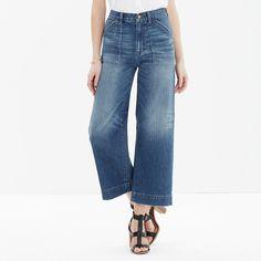 Wide-Leg Crop Jeans : summer denim | Madewell