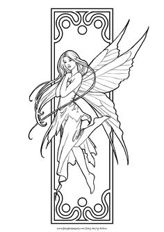 Fairy Coloring Pages For Adults   MORE COLORING PAGE SITES
