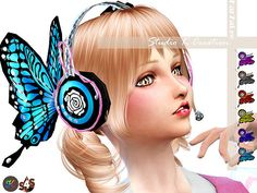 Butterfly headphone at Studio K-Creation via Sims 4 Updates