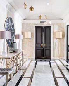 Interior Design & Home Decor 💎 ( Parisian Decor, Parisian Apartment, Apartment Design, Classical Interior Design, Modern Villa Design, Contemporary Hallway, Modern Hallway, Floor Design, House Design
