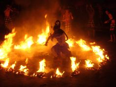 Kecak and Fire dance at Uluwatu Temple. Kecak dance is one of the most popular show on Bali and is always full of spectators at the show every day at Uluwatu. performances are stage designed in such a way that it has the majestic Indian Ocean as its backdrop are timed for the unmissable,captivating and breathtaking Sunset views.