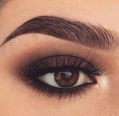 Magnificence Hacks 20 Hottest Smokey Eye Make-up Concepts Article P Makeup Eye Looks, Beauty Makeup, Hair Makeup, Dress Makeup, Glow Makeup, Smokey Eye For Brown Eyes, Makeup For Brown Eyes, Natural Smokey Eye, Brown Eyes Pop