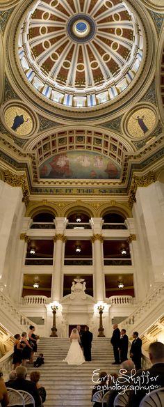 Wedding photographer, Mechanicsburg, PA - State Capital Building