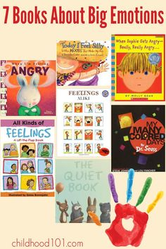 7 Picture Books About Big Emotions. Great for inviting discussion about emotions, their causes and managing strong emotions.