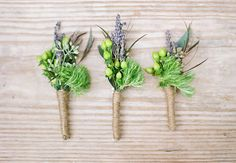 Lavender Boutonnieres | Cassidy Carson Photography | blog.theknot.com