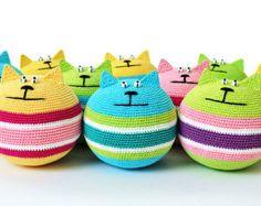 PDF PATTERN Stress Relief Cat crochet amigurumi di sashakulakova