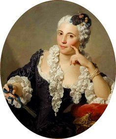 """karoline-von-manderscheid:  """" Pierre-Hubert Subleyras (1699-1749):  Portrait of Anne-Marie Zina Durand de Lironcourt. 18th century.  """""""