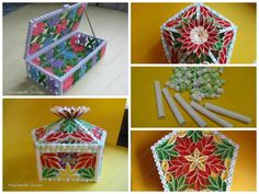 Quilling casket I want to share my method of assembling boxes. The principle of the assembly all the same, first going to the frame, and then filled the walls.