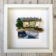 Your place to buy and sell all things handmade Driftwood Wall Art, Driftwood Crafts, Box Frame Art, Box Art, Seaside Decor, Coastal Decor, Beach Themed Crafts, Coastal Wall Art, Rustic Art