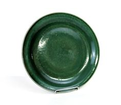 Iron Mountain - Vintage Pottery - Evergreen - Dinner Plate - Vintage Stoneware Pottery - Nancy Lamb - Signed