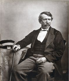 """David Livingstone was a Scottish Congregationalist pioneer medical missionary with the London Missionary Society and an explorer in Africa. His meeting with H. Stanley gave rise to the popular quotation, """"Dr. Livingstone, I presume? Sermon Illustrations, David Livingstone, Christian Missionary, Native Son, Victoria Falls, Portraits, Oeuvre D'art, Old Photos, Images Photos"""