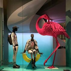 "DIESEL, Barcelona, Spain, ""Yes Miss Flamingo... Your size has not gone unnoticed"", photo by Igertrendy, pinned by Ton van der Veer"