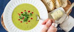 Snelle groentesoep met de zacht zoete smaak van erwtjes en een pittige bite van rode peper