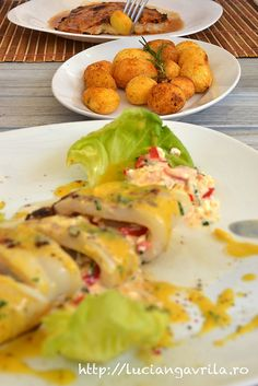 Povestea calamarului umplut Seafood Recipes, Kos, Breakfast, Morning Coffee, Ocean Perch Recipes, Aries, Blackbird