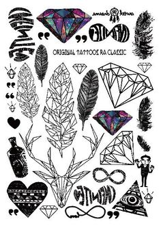 14 Best Sticker Tattoos images in 2017   Sticker, Tatoos, Body art ...