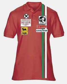 Niki #lauda red and white  #retro polo #shirt f1 formula 1,  View more on the LINK: http://www.zeppy.io/product/gb/2/161808275250/