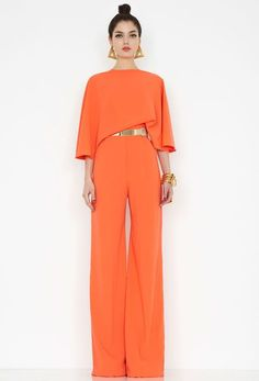 The Seiber Orange Backless Jumpsuit from the Private Benjamin Collection has kimono elbow-length sleeves and fully lined wide leg trousers. The jumpsuit has a square low cut back and fastens with a back zip. Backless Jumpsuit, Jumpsuit Outfit, Jumpsuits For Women Formal, Jumpsuit Elegante, Fashion Mode, Womens Fashion, Mode Inspiration, Classy Outfits, Dress Up
