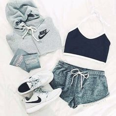 Sport Outfit Nike Athletic Wear Running Shoes 15 New Ideas Outfits For Teens, Fall Outfits, Summer Outfits, Casual Outfits, Summer Workout Outfits, Casual Dresses, Summer Dresses, Look Fashion, Teen Fashion
