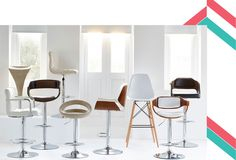 Raise the bar with stool collection Neo Pop, Elegant Home Decor, Elegant Homes, Exterior Design, Interior And Exterior, Natural Texture, Bar Stools, Dining Chairs, Interior Decorating