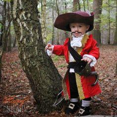 toddler Captain Hook DIY costume!